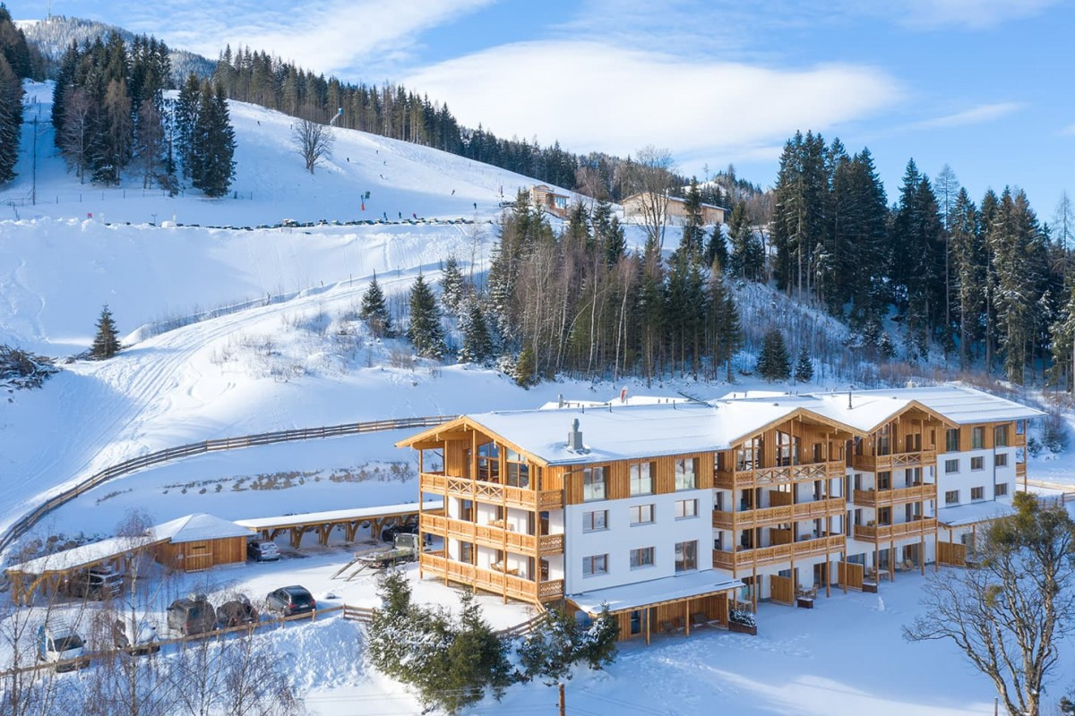 Skylodge Alpine Homes Appartements im Winter